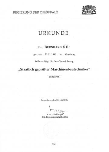 staatl.gepr. Maschinenbautechniker